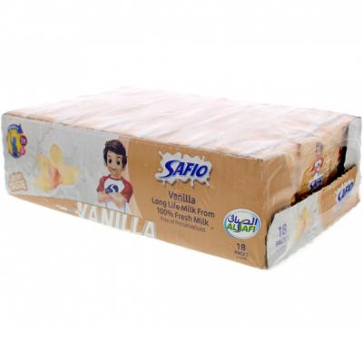 Safio UHT Milk Vanila 125 ml x 18