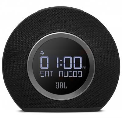 JBL Horizon Bluetooth Clock Radio With USB Charging And Ambient Light Speaker-Black