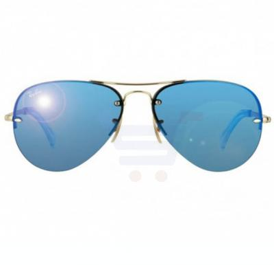 Ray-Ban Aviator Gold Frame & Classic Blue Mirrored Sunglasses For Unisex - RB3449-001-55-59