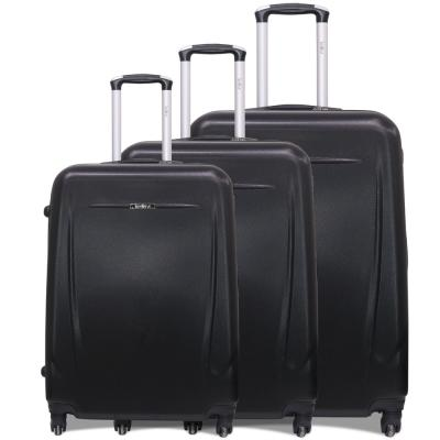Traveller 3pcs ABS Trolly 20,24 And 28 size Black, TR-3304
