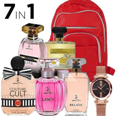 7 In 1 Dorall Collection 5 Piece Women Bundle, Fashionable Backpack For Women Blue And DVANS Stylish Watch For Women Assorted Colors