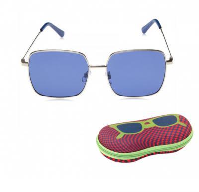 TFL Eyewear Square Women Sunglasses, 16492-NavyBlue