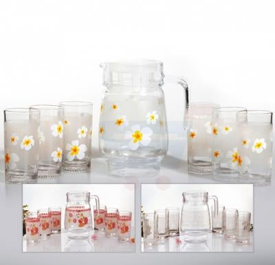 Royalford 7Pcs Lovely Flowers Cool Water Set - RF8718