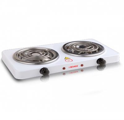 Nevica Spiral Double Hot Plate Size:150mm +150mm, Voltage:220-240v, 50/60Hz 1000w +1000w - NV-749EC
