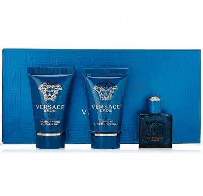 Versace Eros Gift Set EDT 5ml, Shower Gel 25ml and After Shave Balm Miniature 25ml