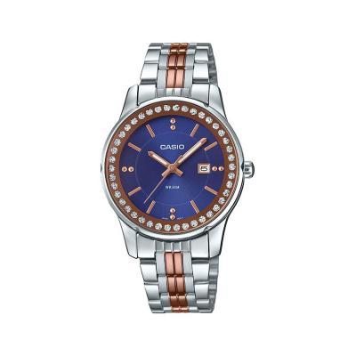 Casio Analog Blue Dial Womens Watch ,LTP-1358RG-2AVDF