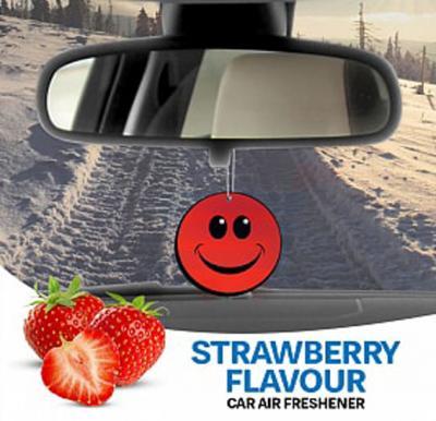 Kenco Smiley Shape Car Air Freshner, Strawberry