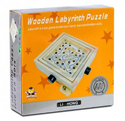Brain Games Wooden Labyrinth Puzzle Medium