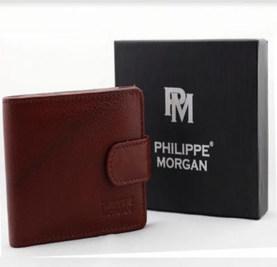 Philippe Morgan premium Leather Wallet PM030, Brown