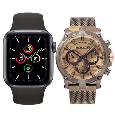 Buy Police P15920JSMBN Tamann Analog Men Watch and Get Apple Watch SE-40mm GPS Space Gray Free