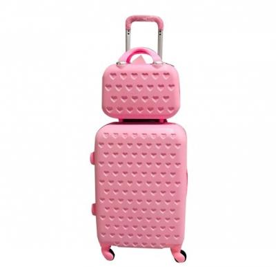 2 Piece  Luggage Trolley Set, 12 and 24 Inch Pink