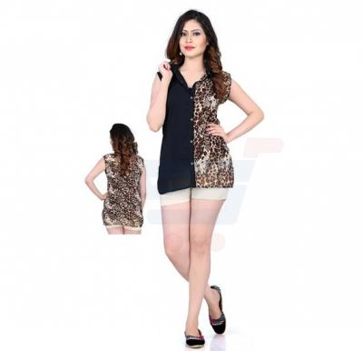 Womens Black color Printed Top - 90CL090 - XL