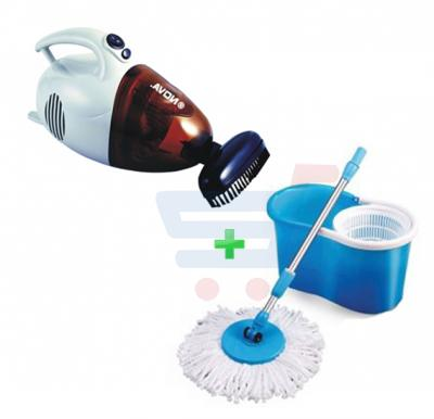 Bundle Offer! Nova Handy Vacuum Cleaner NVC-804MV + 360 Spin mop  PM-501
