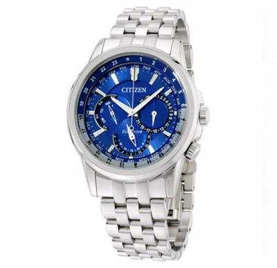 Citizen Calendrier Blue Dial Stainless Steel Mens Watch, BU2021-69L
