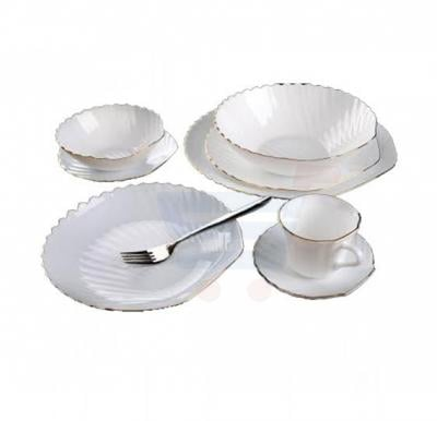 RoyalFord 22 Pcs Shell  Dinner Set (Gold Rim) - RF8588