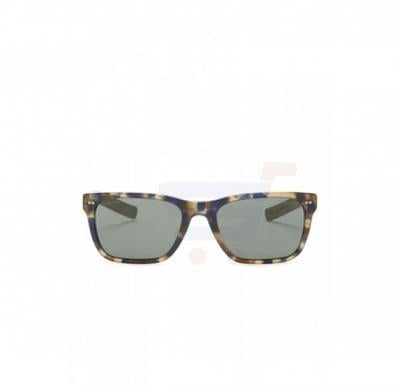 Giorgio Armani Rectangular Blue Havana & Wood Frame & Grey Green Mirrored Sunglasses For Unisex - 0AR8062-541171