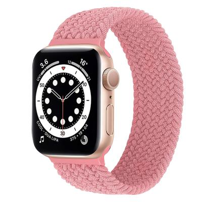 Promate Solo Loop Nylon Braided Strap for Apple Watch M Pink
