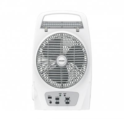 Sonashi 8inch Rechargeable Box Fan (With Torch & Mobile Charging Function) - White