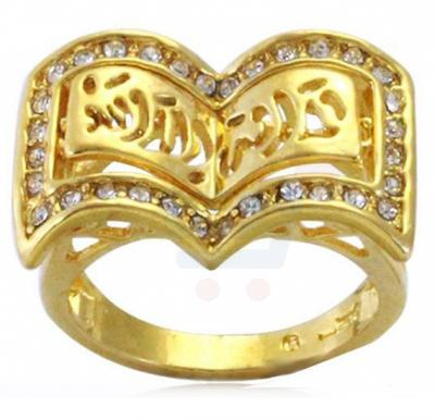 CZ Stone 18k Gold Plated Ring For Unisex, Size 9US