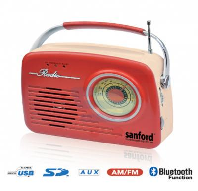 Sanford Am/Fm Radio With Usb And Sd Card SF3305PR BS