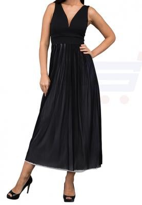WAL G Italy Padded V Neck Maxi Maxi Dress Black - WG 7503 - XXL