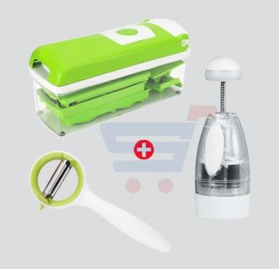 Bundle Offer Nicer Dicer SD 221, Vegetable Peeler BY-025, Perfect Chopper Deluxe