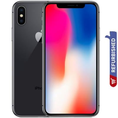 Apple iPhone X, 3GB RAM 256GB Storage, 4G LTE, Spice Grey - Refurbished