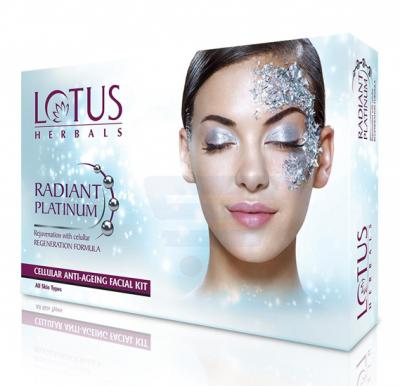 Lotus Radiant Platinum Cellular Anti Ageing 1 Facial Kit