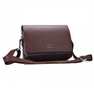 Kangaroo Kingdom Cross Body Shoulder Travel Vintage Bag For Men Coffee