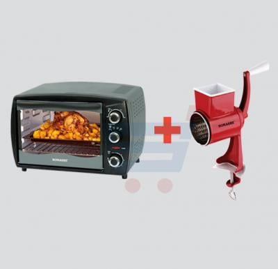 Bundle Offer! Sonashi 20ltr Electric Oven STO-729,1300W & Get Sonashi Walnut Grinder/Cheese Grater SWG-001 FREE