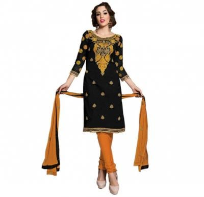 Glossy 1012 Cotton Embroidery Suit