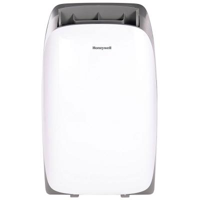 Honeywell HL12CESWG Portable Air Conditioner 12000 BTU Cooling With Dehumidifier And Remote, White Gray