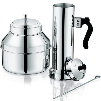Royalford Stainless Steel Pressure Puttu Maker with Pot and Handle, Multi-Colour, RF9707