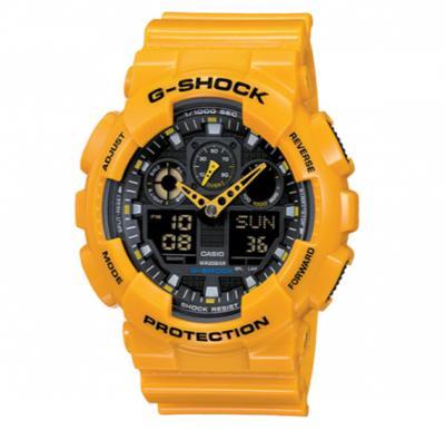 Casio G-shock Digital Analog Watch Yellow, GA-100A-9ADR