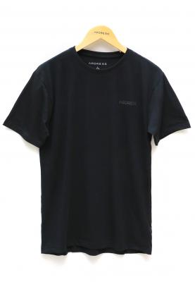 Address Black Plain T-Shirt Round Neck