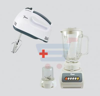 Bundle Offer Eggbeater and Mixer, BY-083, He-House 2 in 1 Blender HT999