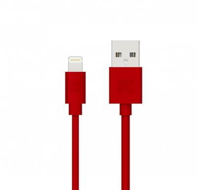 Promate Lightning Cable, Apple MFi Certified 1.2 Meter Lightning to USB Fast Charging and Syncing Cable, Linkmate-LT Red