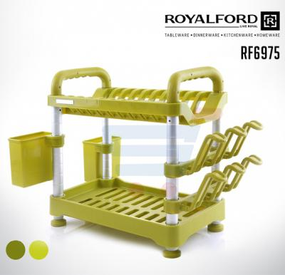 Royalford Fiber 2 Layer Dish Rack - RF6975