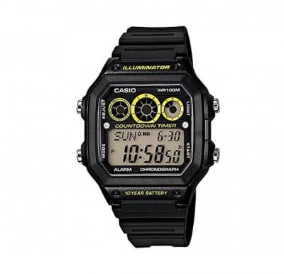 Casio Youth Grey Dial Watch For Men - AE-1300WH-1AVDF (D106)