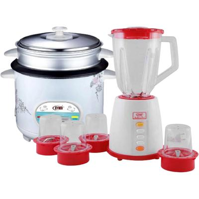 2 in 1 Bundle Cyber 5 in 1 Blender 1.5 Liters Plastic Jar with 3 Speed 250 Watts, CYB-8805 And Cyber Multi-Functional Automatic Rice Cooker 1.6