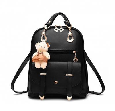 Vogue Star New Designer Women Backpack For Teens Girls-black