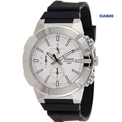 Casio MTP-E501-7AVDF Chronograph Watch For Men, Black