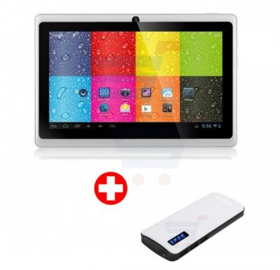 Bundle Offer! Lenosed A710 Tablet, Android 4.2.2, 7 Inch LCD Display, 1GB RAM, 8GB Storage, Dual Camera, Wifi- White And Get Power Box 15000 mAh Power Bank For Smartphones & Tablets With 20CM Micro USB Cable Free