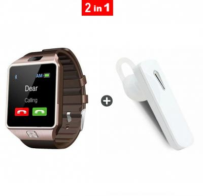 2 in 1 bundle offer DZ09 Bluetooth Smartwatch and Smart Bluetooth Stereo Headset
