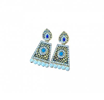 Nora Earrings Handmade with Stones Set  - A0089