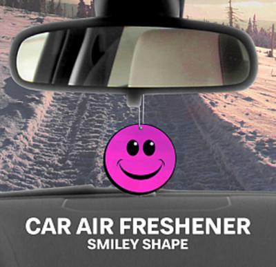 Kenco Smiley Shape Car Air Freshner, Bubble gum