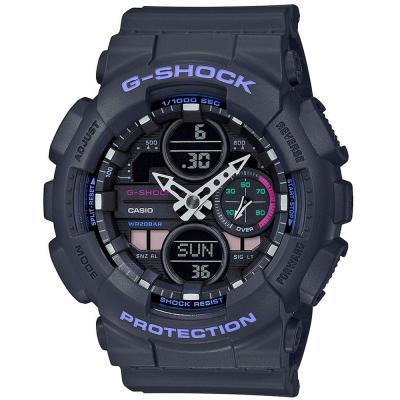 Casio G-Shock S-Series Analog Digital Black Dial Womens Watch, GMA-S140-8ADR