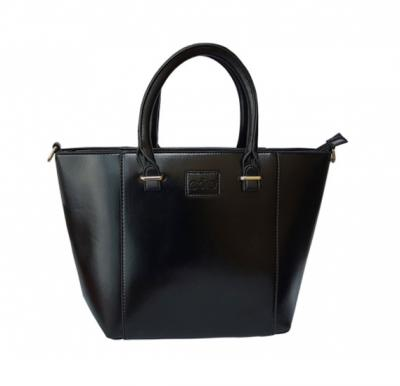 Core 2568 Tote Bag for Women - Pure Leather, Black Color