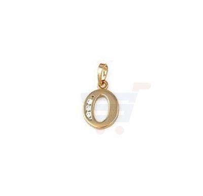 Xuping Necklace Pendant Gold Plated Letter  O