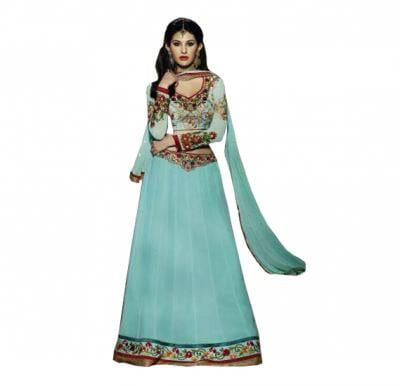 Fiona 11114 Georgette With Embroidery Designer Anarkali Dress Material